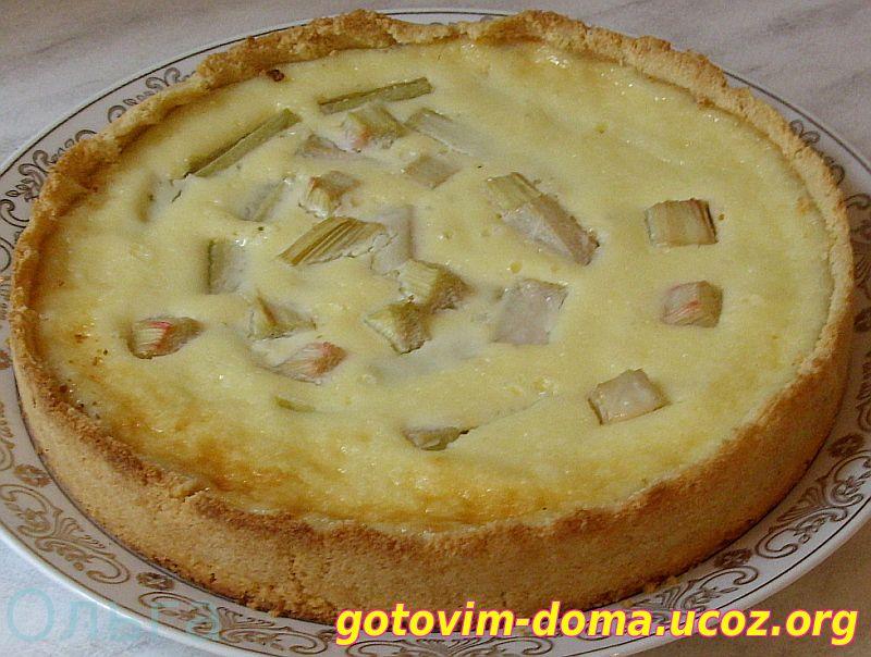 Пироги из ревеня рецепт с